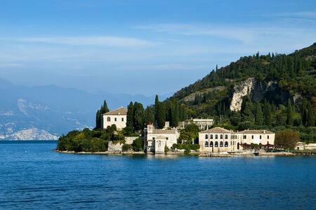 sirmione: Approaching Garda Town on Lake Garda Italy