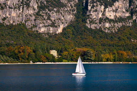 Approaching Garda Town on Lake Garda Italy photo