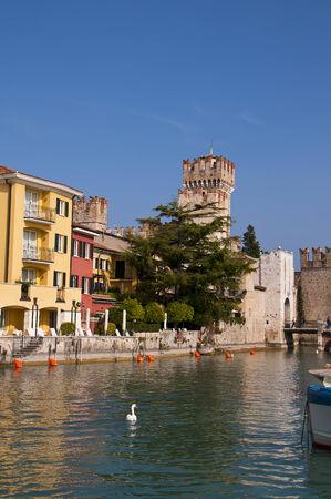 sirmione: Sirmione castle on Lake Garda Italy