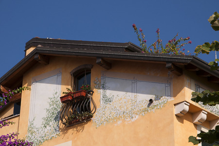 sirmione: Painted House at Sirmione on Lake  Garda Italy Editorial