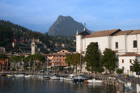 maderno: Maderno is one of the lovely small towns on this lake in Northern Italy  Lake Garda is a popular European tourist destination situated near the Dolomites and Italian Alps Editorial