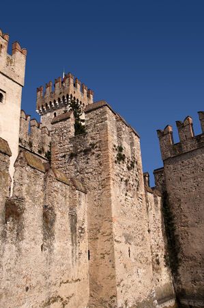 castle at Sirmione on Lake Garda Italy