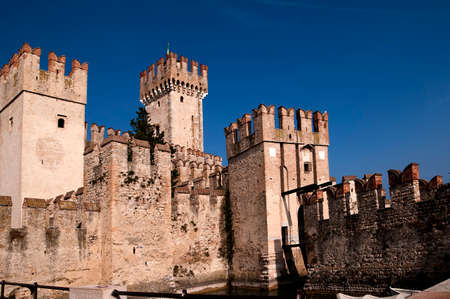 Scalieri Castle in Sirmione on Lake Garda Italy