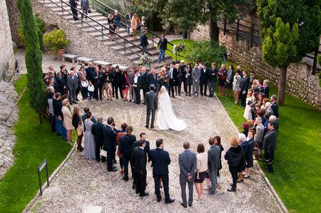 Wedding Party in Malcesine on Lake Garda Italy