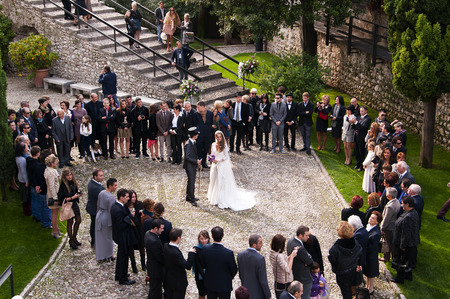 Wedding Party in Malcesine on Lake Garda Italy