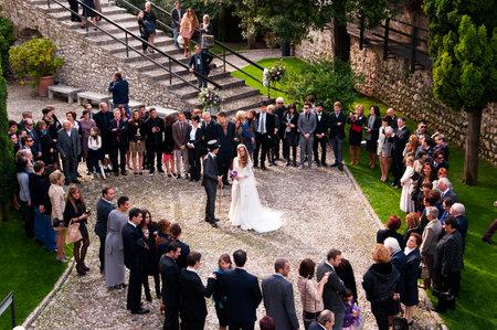 garda: Wedding Party in Malcesine on Lake Garda Italy