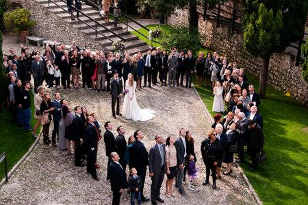 Wedding Party in Malcesine aan het Gardameer Italië Redactioneel