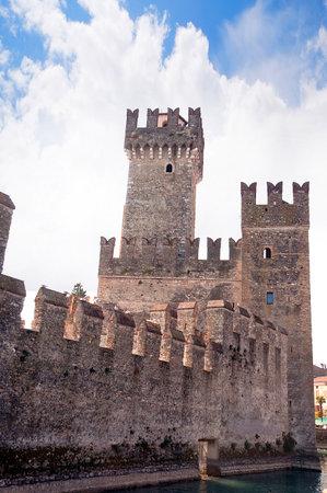 sirmione: Scalieri Castle in Sirmione on Lake Garda Italy