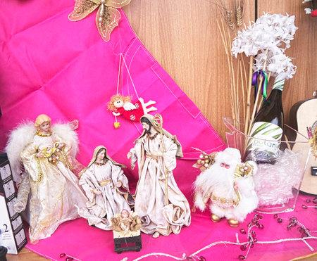 Christmas crib scene in Nerja Andalucia Spain