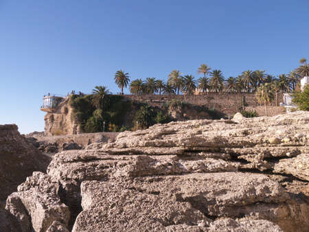nerja: Balcon de Europa at Nerja Andalucia Spain