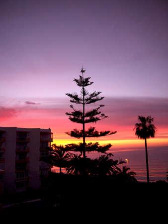 nerja: Puesta de sol sobre el mar en Nerja Andalucia Espa�a