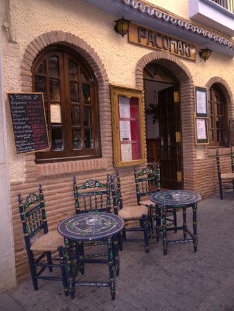 nerja: restaurant in nerja Spain Editorial