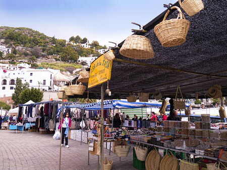 Frigiliana Market in one of the most beautiful white Villages of Andalucia Spain