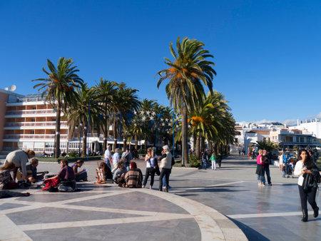 balcon: the Balcon de Europa in Nerja Andalucia Spain Editorial