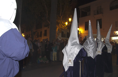 processions: Maundy Thursday Easter Processions in Nerja Spain Editorial