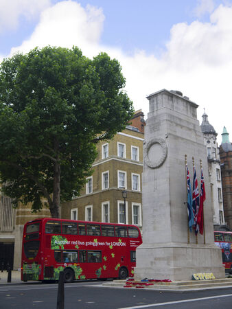 The Cenotaph, a memorial to the fallen of all conflicts in London, the Capital City of England