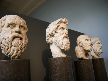Griekse filosofen in Londen Museum Redactioneel