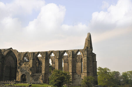wharfedale: Bolton Abbey Ruin in Wharfedale North Yorkshire