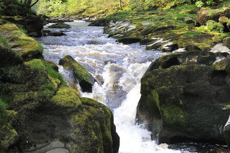 The Strid on River Wharfe at Bolton Abbey Yorkshire photo
