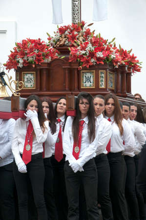 easter sunday: Easter Sunday Processions in Nerja Andalucia Spain
