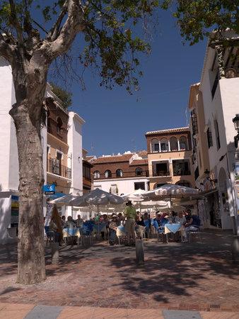 balcon: restaurant on the Balcon de Europa in Nerja Andalucia Spain Editorial
