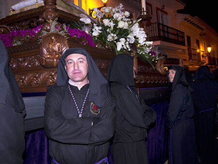 processions: Good Friday Easter Processions in Nerja Andalucia Spain