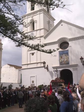 processions: Easter Sunday Processions in Nerja Andalucia Spain