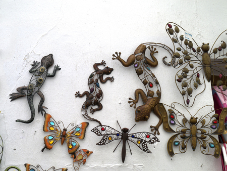 Metal Wall Decorations in Frigiliana Spain photo