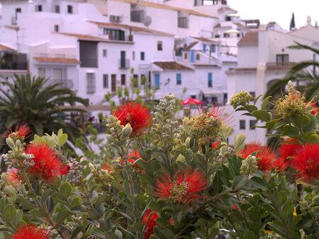Frigiliana one of the most beautiful white villages of the Southern Spain area of Andalucia in the Alpujarra mountains