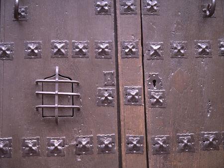 nerja: Studded Door in Nerja Andalucia Spain