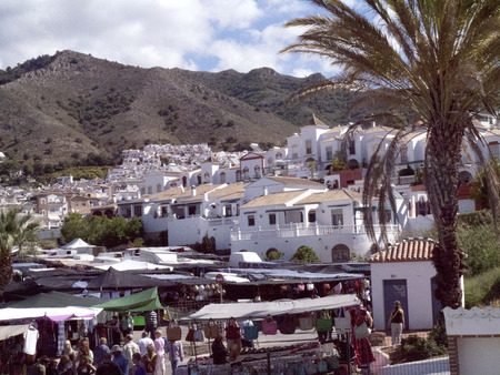 Weekly Market In Nerja on the Costa Del Sol Spain