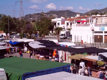 Weekly Market In Nerja on the Costa Del Sol Spain