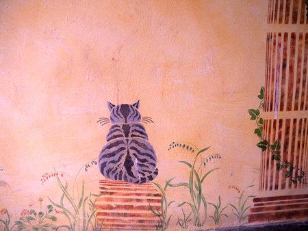 nerja: Wall fresco in Nerja Andalucia Spain