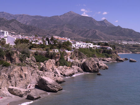 balcon: view down coast from the Balcon de Europa Nerja Spain