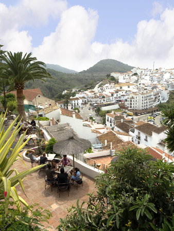frigiliana: Frigiliana one of the most beautiful white villages of the Southern Spain area of Andalucia in the Alpujarra mountains