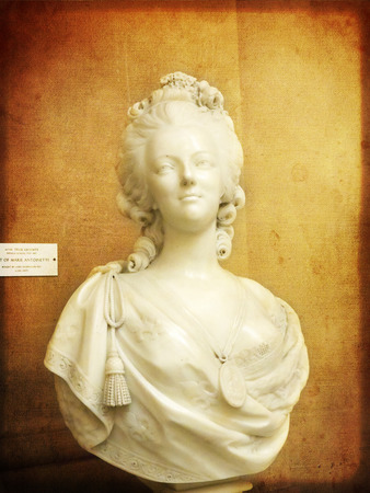 Marble Bust of Marie Antoinette in Museum Stock Photo - 29557193