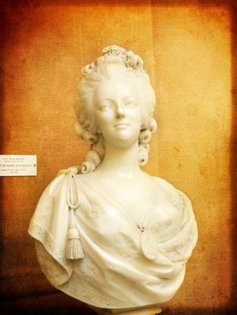 Marmeren buste van Marie Antoinette in Museum