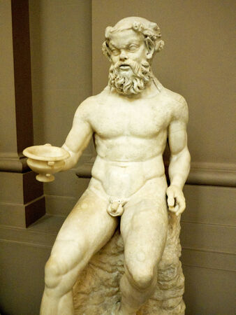 drunks: Roman God Silenus Protector of Drunks in Museum
