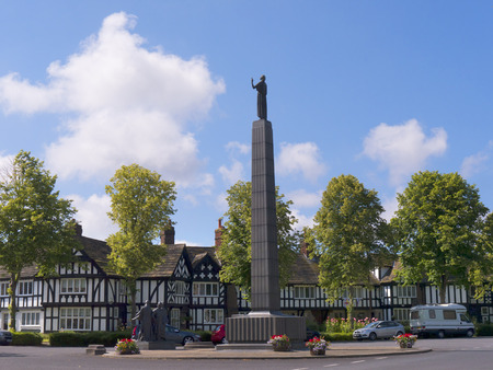 philanthropist: Inspiration statue in Port Sunlight in Cheshire