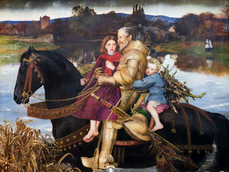 brenda kean: Painting in museum in Cheshire England Editorial