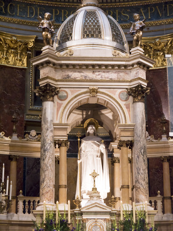 high altar: High Altar of St Stephens Cathedral in Budapest Hungary Editorial