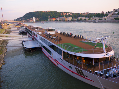 luxury Cruiser on the River Danube in Budapest Hungary