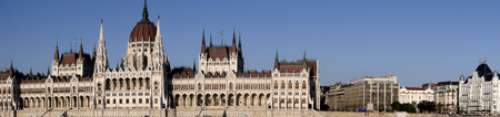 Houses of Parliament in Budapest Hungary