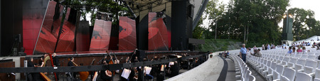 open air: Panorama of the Open air Theatre in Budapest Hungary