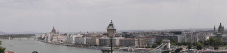 brenda kean: Panorama of River Danube from the Royal Palace in Budapest Hungary Editorial