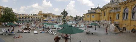szechenyi: Szechenyi Thermal Baths in City Park in Budapest Hungary