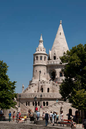 fishermens: Fishermens Bastion on Buda Castle Hill in Budapest Hungary