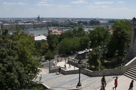 matthias: Fishermens Bastion on Buda Castle Hill in Budapest Hungary