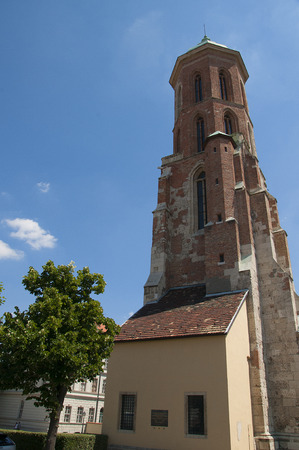 castle district: Mary Magdalene Tower in the Castle District of Budapest Hungary