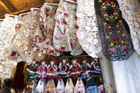 matthias: Traditional handicrafts of Hungary in Budapest Market Hall Editorial